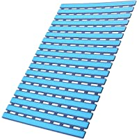 I FRMMY Anti Slip Bath Shower Floor Mat with Drain Hole- Non Slip Bathroom Stall Mat-Blue