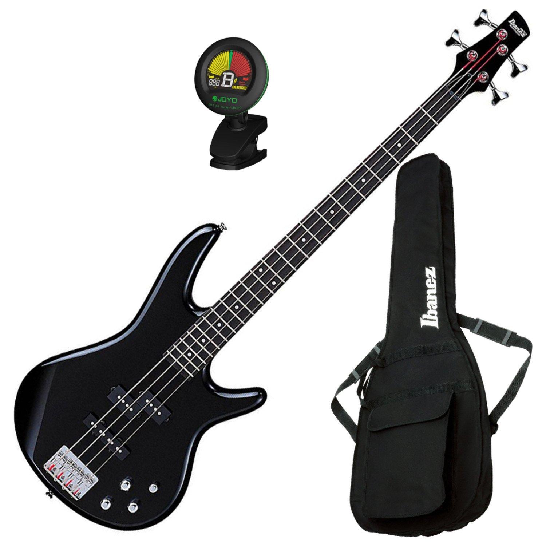 Ibanez GSR200BK 4 String Electric Bass Guitar (Black) w/ Gig Bag and Tuner GSR200BK BUNDLE