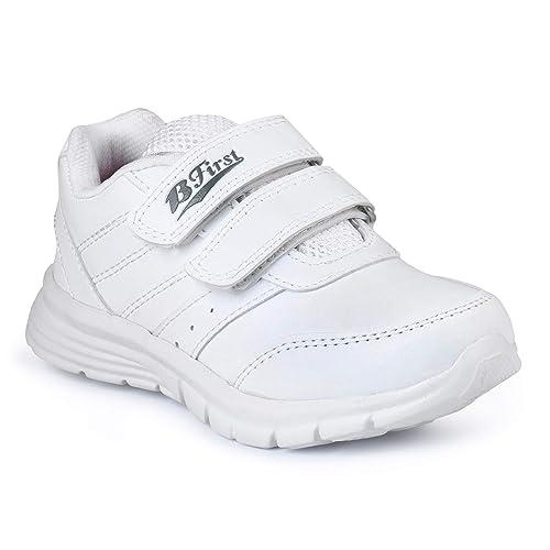 BATA Boys \u0026 Girls School Shoes-White