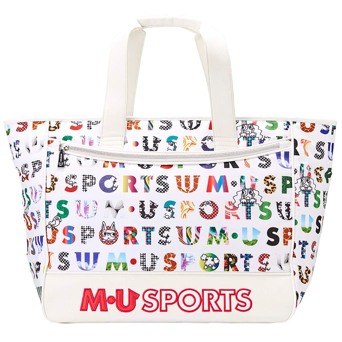 MU SPORTS(エム ユースポーツ) ボストンバッグ 2019SSシリーズ カラフルロゴプリントボストンバッグ ホワイト 703P1204 ホワイト B07NP7CVX5