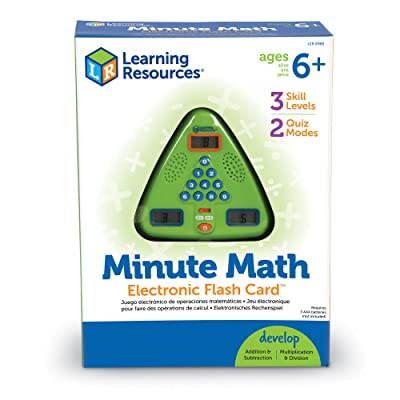 Learning Resources Minute Math Electronic Flash Card, Homeschool, Early Algebra Skills, 3 Difficulty Levels, Ages 6+: Toys & Games