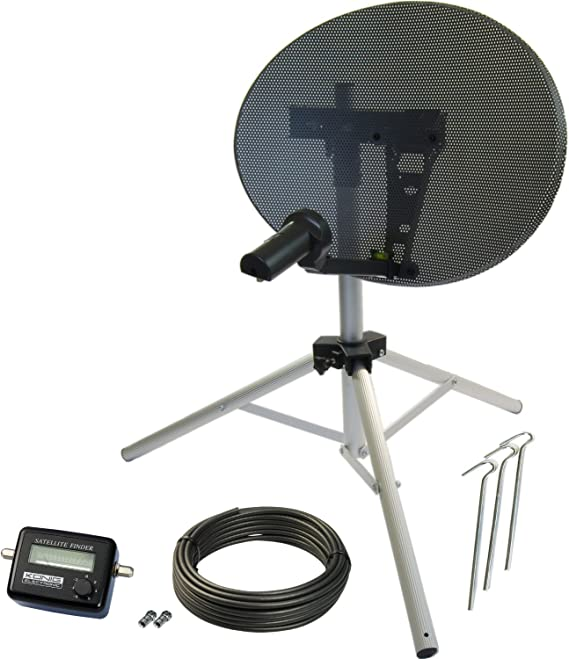 Satgear portátil 48 cm medidor de Kit de antena parabólica ...