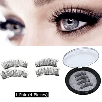 16c84d5639d Amazon.com : Full Size 3D Magnetic False Eyelashes, cnokfan Triple Magnetic  Lashes Natural Look Eyelids, No Glue, Irritation-Free, Quick Paste Reusable  ...
