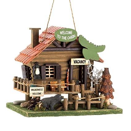 Koehler 15281 10,25 cm Woodland Cabina casa para pájaros al Aire Libre Decor