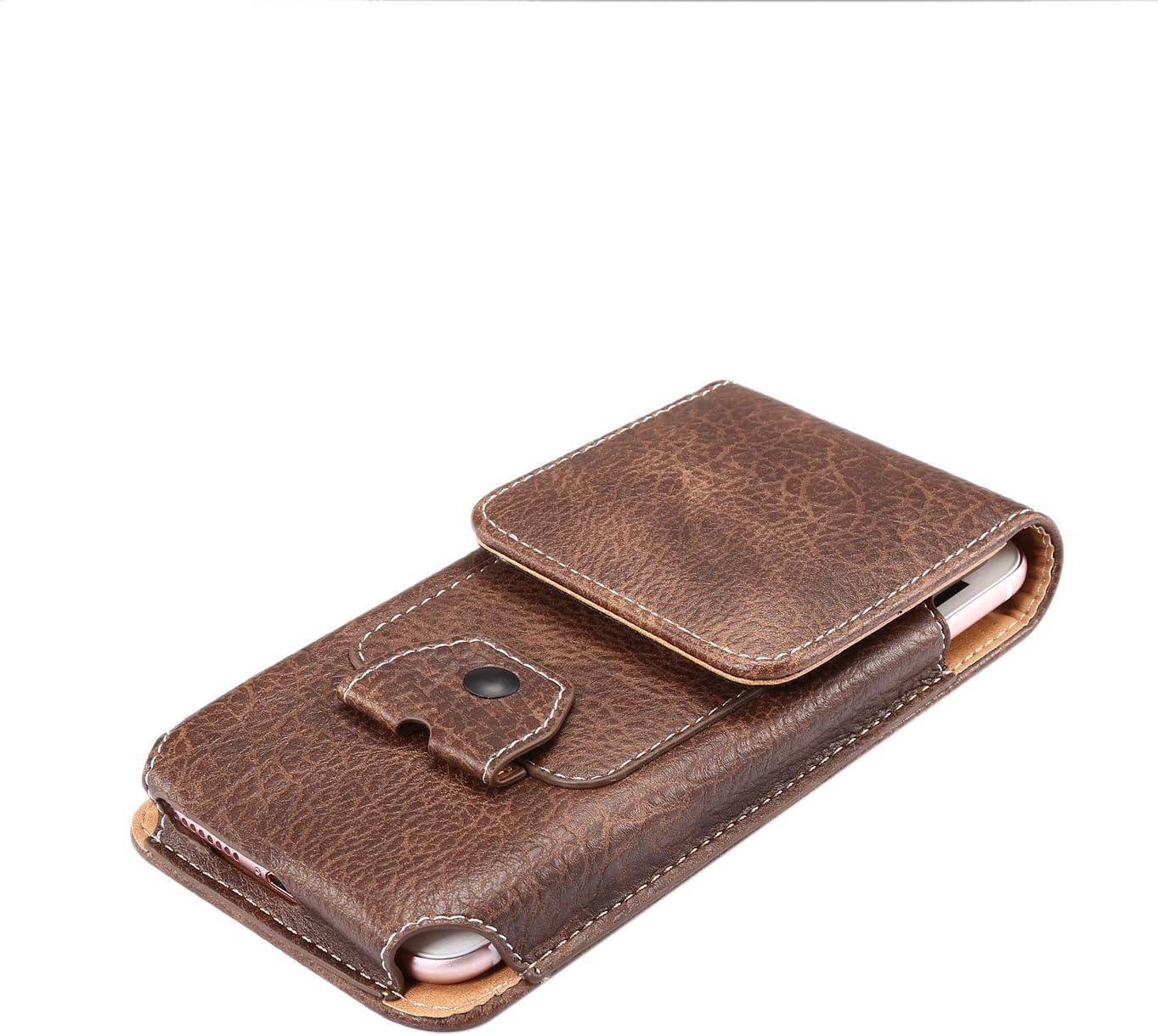 HUUH Funda de Cuero Bolsas Bolsillos Funda Universal para tel/éfono m/óvil,se Puede Colgar en un cintur/ón o una Mochila,Compatible:Todos los tel/éfonos m/óviles de Menos de 6,3 Pulgadas Gray 6,3in