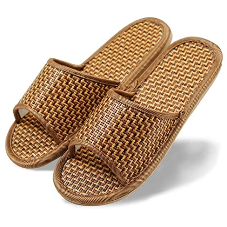 DYY Men and women bamboo and rattan slippers, spring and summer bamboo slippers, couples