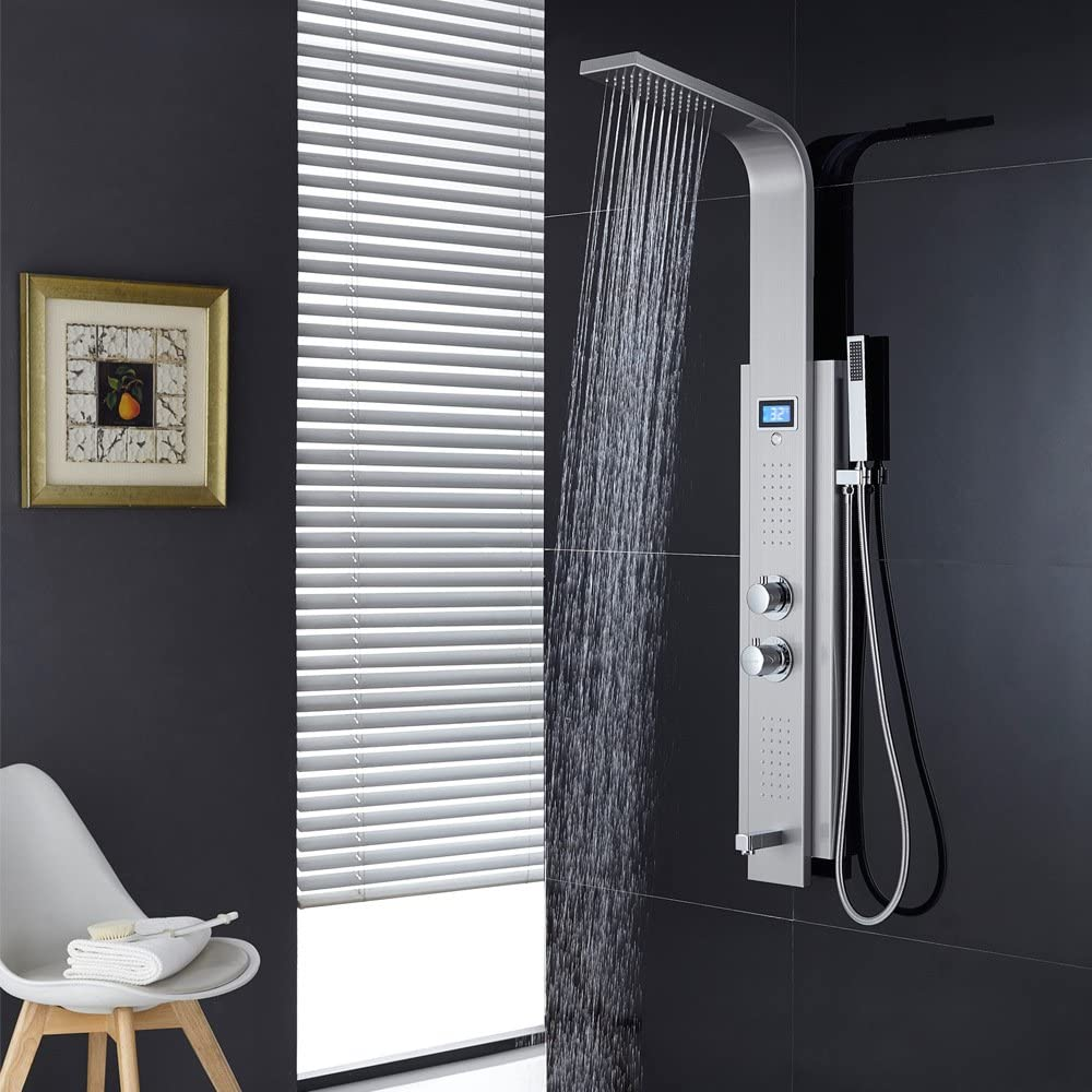 GFEI Mampara de ducha de acero inoxidable grifo de la ducha ...