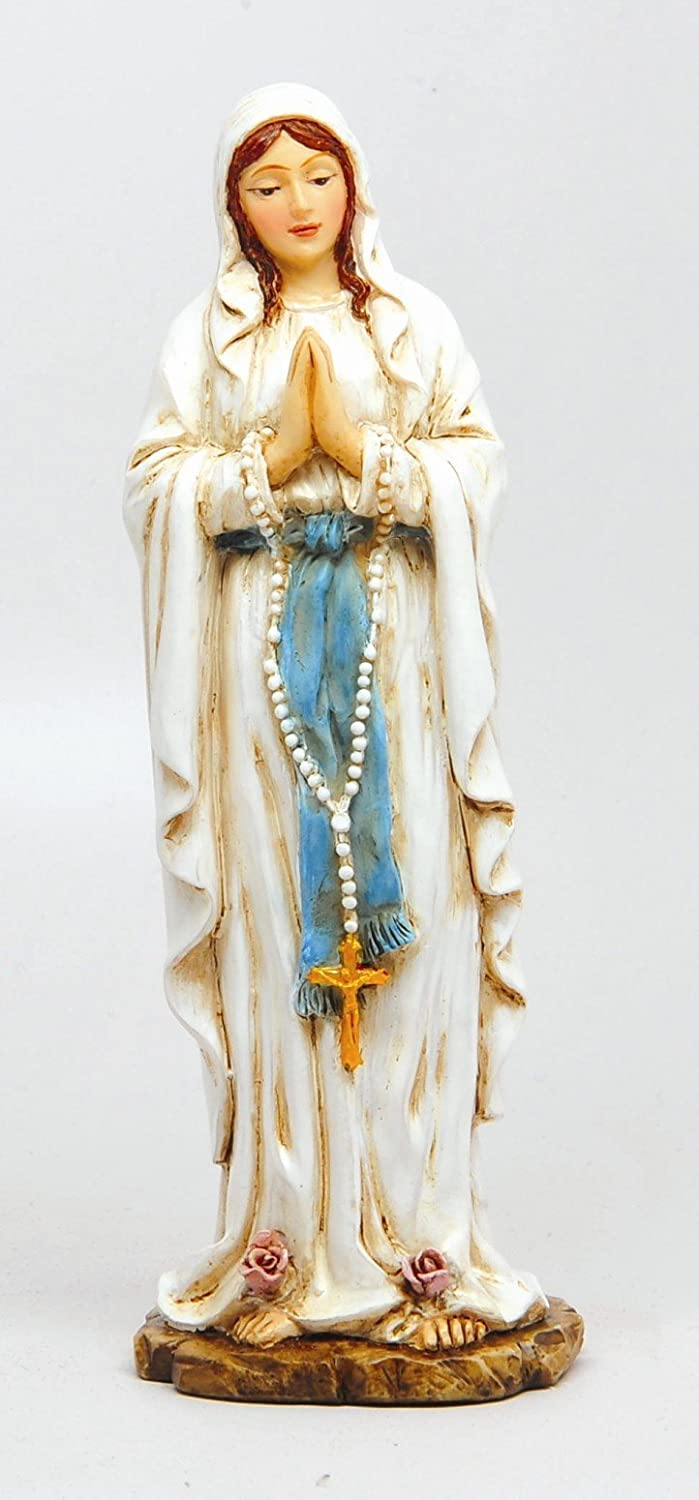 PTC 6 Inch Our Lady of Lourdes Orthodox Religious Statue Figurine