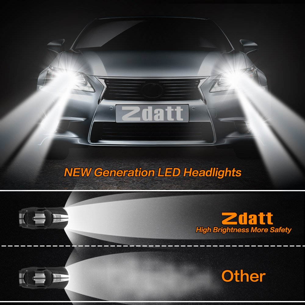 Amazon zdatt 12000lm super bright 100w h4 hb2 9003 high low amazon zdatt 12000lm super bright 100w h4 hb2 9003 high low beam conversion kit 360 degree led headlight bulbs for car lamp replacement amber3000k parisarafo Images