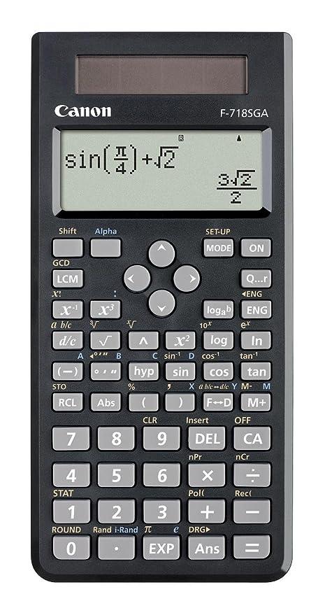 amazon com canon scientific calculator blk f 718sga scientific rh amazon com