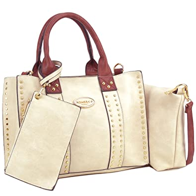 b58b606eda Dasein Designer Tote Purse Satchel Handbag Faux Leather Shoulder Bag Top  Handle Bag