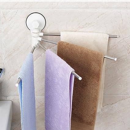 Wishwin Sucker - Toallero de 4 toallas sin pegatinas para baño