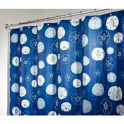 InterDesign Novelty Fabric Shower Curtain, 72u0026quot; X 72u0026quot;, Sand Dollar  ...