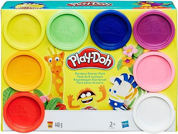 Play-Doh- Pack de 8 botes Arco Iris (Hasbro A7923EU6), Multicolor ...