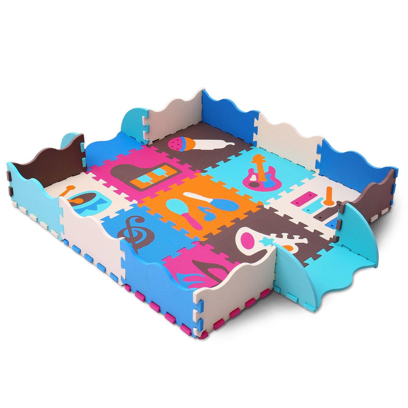 XMTMMD ni/ños Puzzle Play Mat Colorido Suave no t/óxico Jigsaw Espuma baldosas de Piso y Juguetes AM06B