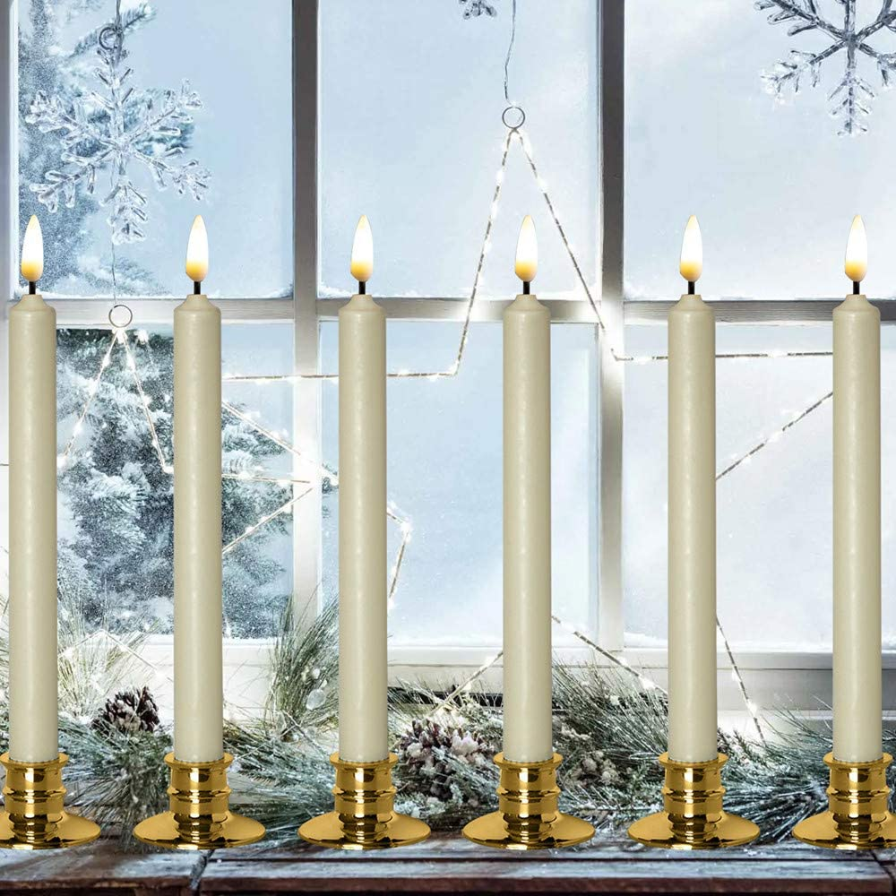 3 x TAPERED DINNER CANDLES NON-DRIP /& RUN LINE CANDLE INDIVIDUALLY WRAPPED UK