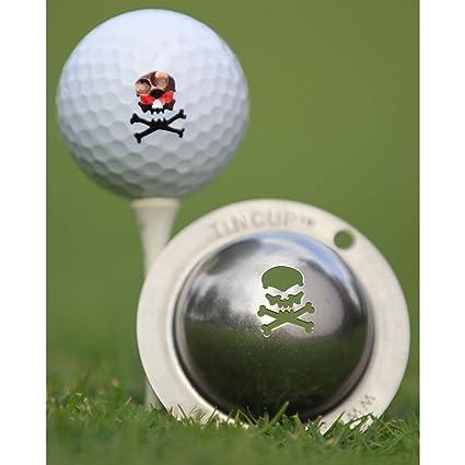 .com : tin cup the jolly roger golf ball marking stencil ...