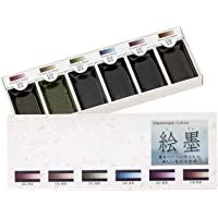 Boku-Undo E-Sumi Watercolor Paint 6 Colors Set from Japan