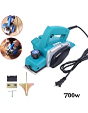 Electric Planer,110V 700W Powerful Electric Wood Planer Door Plane Hand Held Woodworking Power Surface(Shipping from CA)