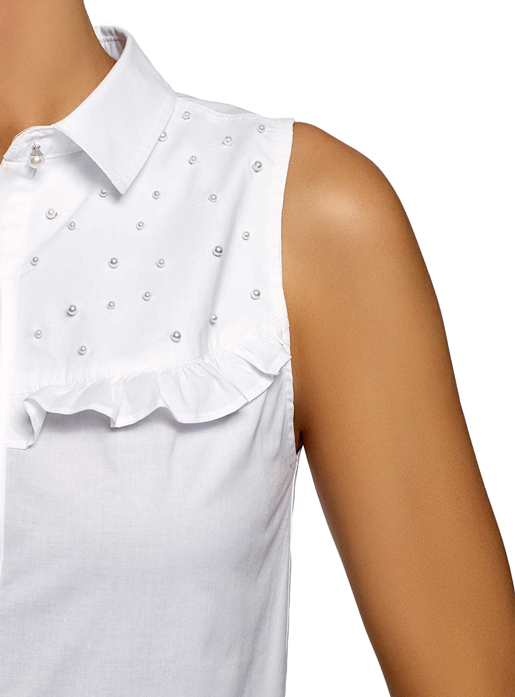oodji Ultra Womens Ruffle Cotton Top