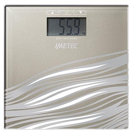 IMETEC BM3 300 - Báscula de baño, cuadrada, vidrio templado, color beige
