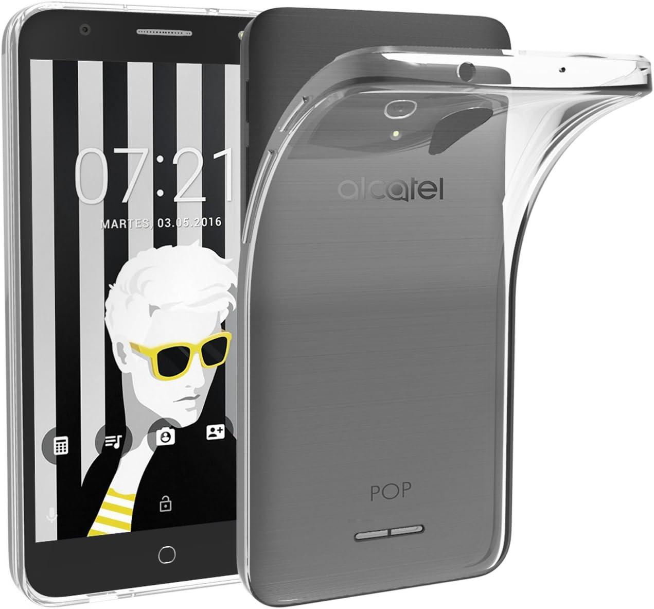 ivoler Funda Carcasa Gel Transparente para Alcatel Pop 4 Plus 5.5 Pulgadas, Ultra Fina 0,33mm, Silicona TPU de Alta Resistencia y Flexibilidad: Amazon.es: Electrónica