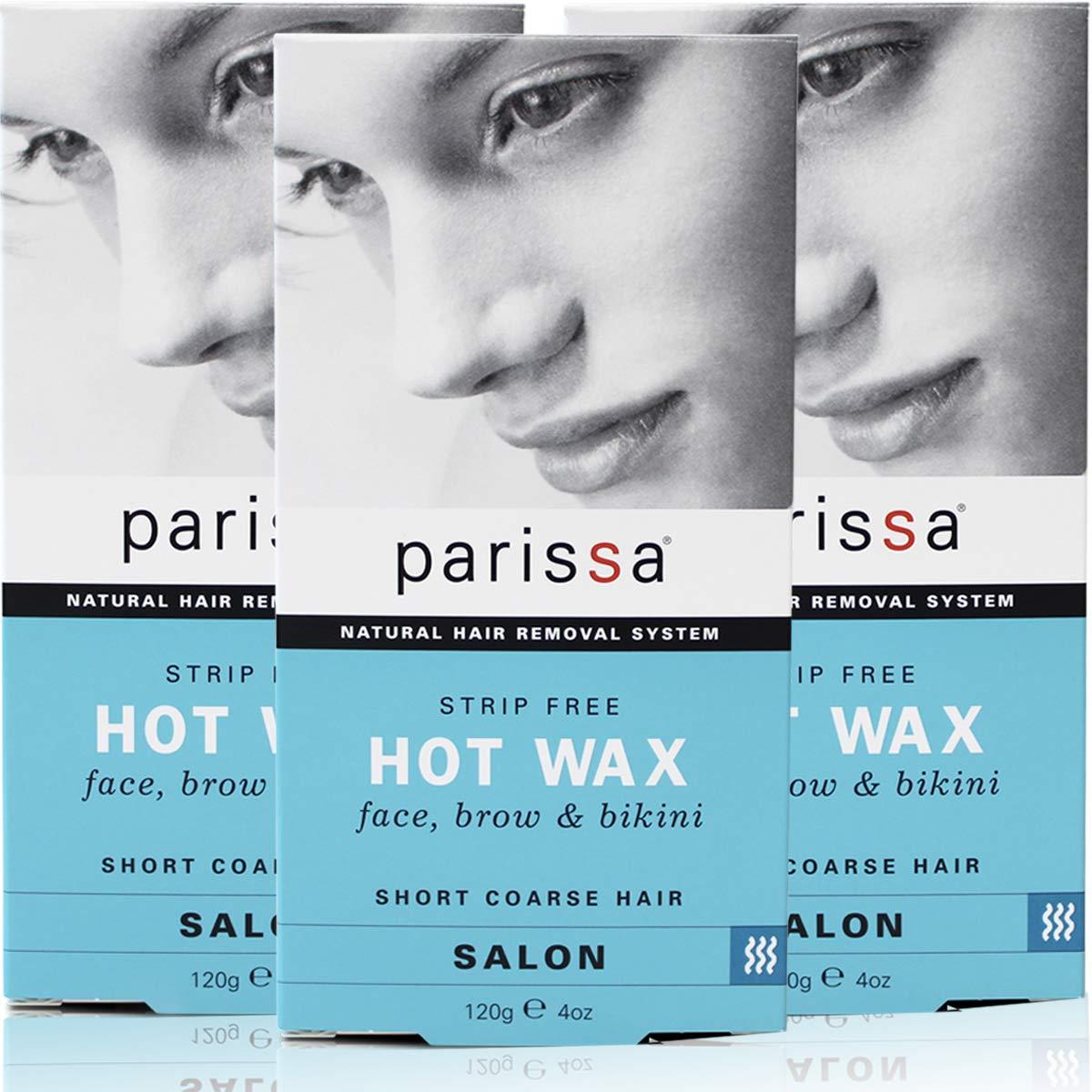 Parissa Salon Style Hot Hard Wax Strip-Free (120g), Pack Of 3