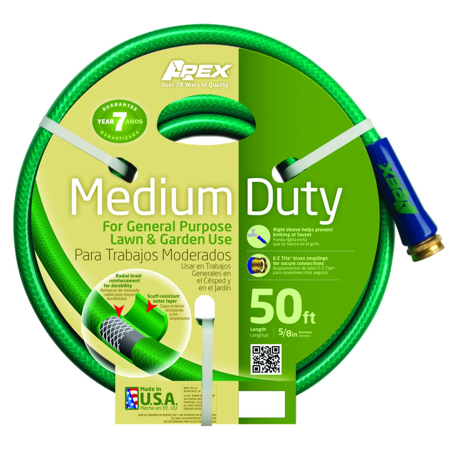 0f988a1eda1a Apex, 8535-50, Medium Duty Garden Hose, 5/8-Inch by 50-Feet