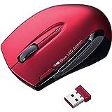 サンワサプライ ワイヤレスマウス ブルーLED レッド MA-WBL26R