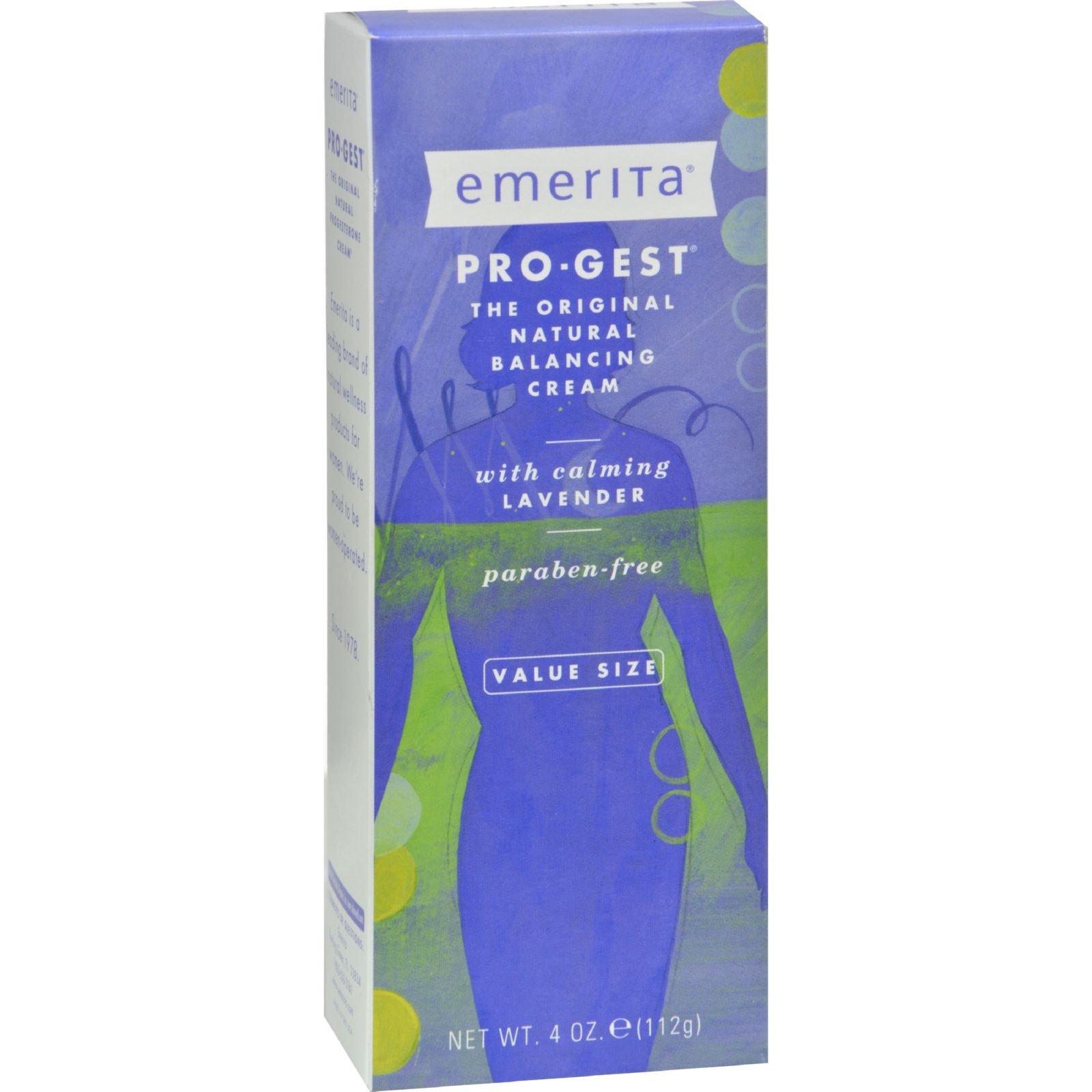 2Pack! Emerita Pro-Gest Cream - Lavender - 4 oz