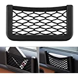 Car Storage Organizer, DSSKY 2-Pack Universal Car String Bag Car Seat Side Storage, 7.9 X 3.2 Net Bag Mesh Pocket…