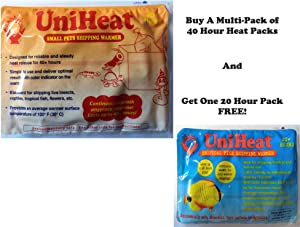 "Uniheat Shipping Warmer 40+ Hours, 16 Pack + Free Bonus! 4""x10"" 3 Mil Frag Bag & 9""x24"" Shipping Bag, 40+ Hour Warmth for Shipping Live Corals, Small Pets, Fish, Insects, Reptiles, Etc."