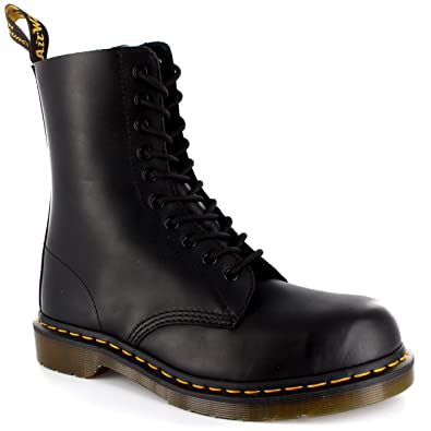 2019fa1f9cbb6 Dr. Martens Womens 1919 Fine Haircell 10 Eyelet Lace Up Leather Army Boot  UK 3