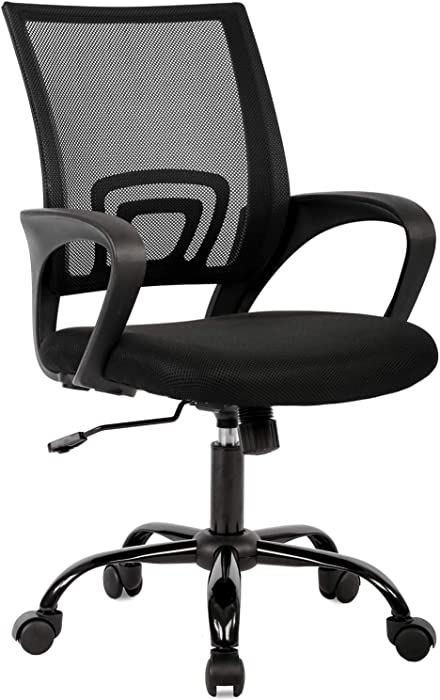 Direct Ergonomic Office Chair Home Desk Task Computer Gaming with Back Lumbar Support Armrest Swivel Modern Adjustable Rolling Executive Mesh for Women Men, Black