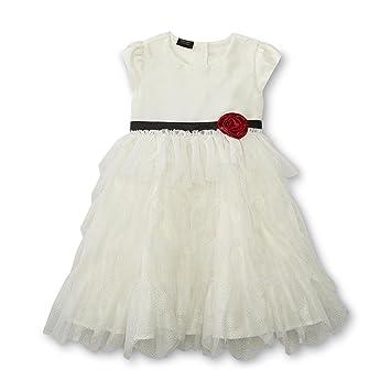 big sale 33f98 2dc89 Holiday Editions Mädchen Kleid mit Rose weißes Kleid mit ...