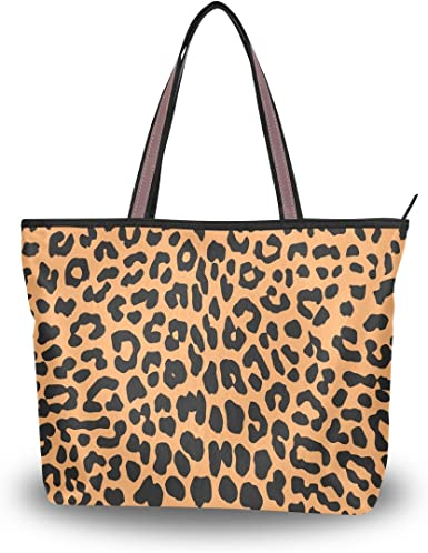 Shopping Tote Bag Zipper Stylish Handbag Women/'s Pattern Printed Shoulder Bag