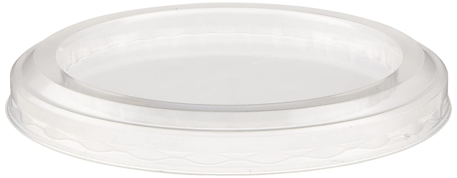 Georgia-Pacific 50 Lids Per Pack, 10 Packs Per Case Clear Dixie 5 and 8 oz DD05DL 500 Count Plastic Dessert Dish Dome Lid by GP PRO