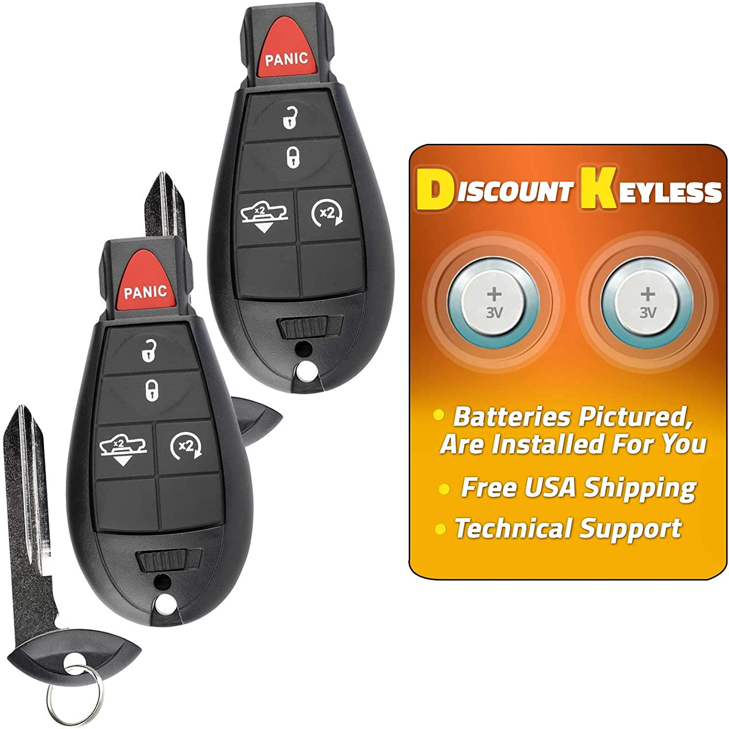 68159654 For 15-17 Ram 1500 With Air Suspension Keyless Entry Remote Key Fob 5btn GQ4-53T