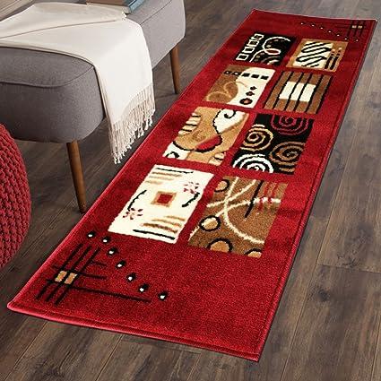 The Home Talk Multicolor Classy Modern Look Carpet / Rug / Passage / Floor Mat ( 50 X 150 cm ),(Red)