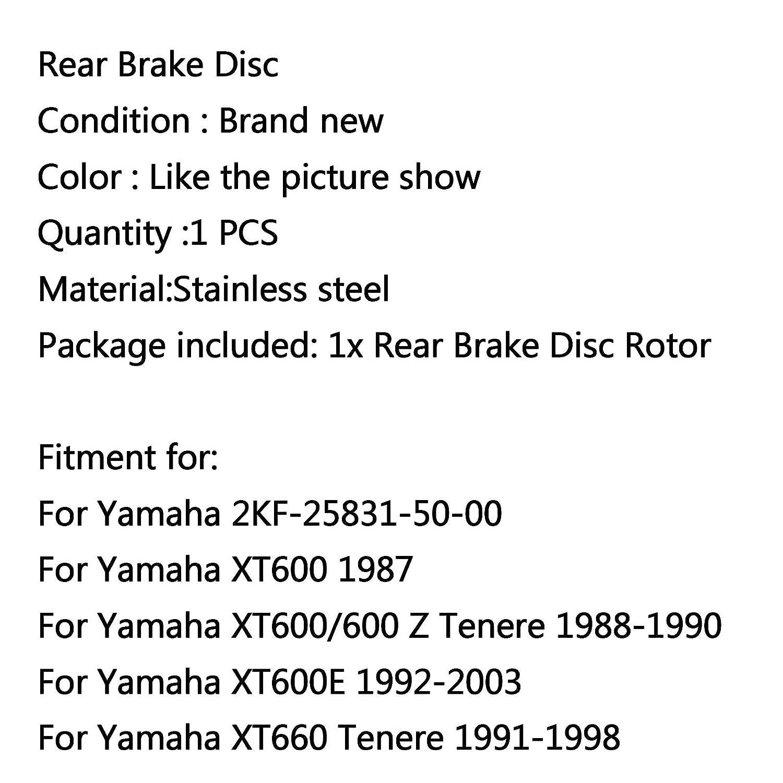 Rotore freno a disco posteriore per Yamaha XT600 XT600E 90-95 XTZ 660 Tenere 1991-1998 Areyourshop