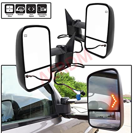 Side View Mirror Driver Left Side for 03-06 Chevy GMC Truck Power Heated Signal