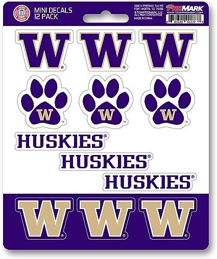 NCAA Washington Huskies Paw Print Car Magnet