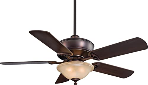 Minka-Aire F620-DBB, Bolo Dark Brushed Bronze 52 Ceiling Fan with Light Remote Control