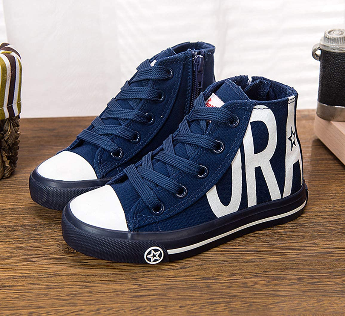 iDuoDuo Boys Girls Classic School High Top Lace Up Canvas Shoes Sneakers Toddler//Little Kid//Big Kid