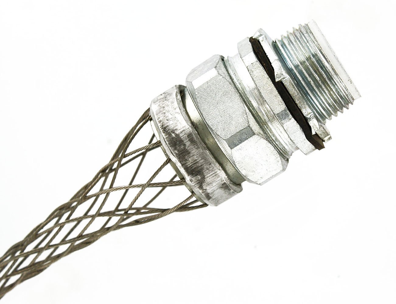 Leviton L7962 1/2-Inch, Straight, Male, Aluminum Body, Liquid-Tight Non-Metallic Type A Conduit, Strain-Relief Grip