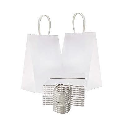 Amiff - Bolsas de papel para la compra (5,25 x 3,75 x 8,25 cm)