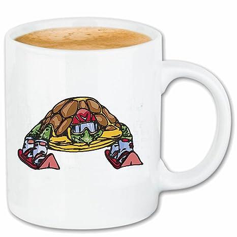 Taza párrafo café esquí divertida tortuga TORTUGAS Tortugas ...