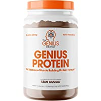 Genius Protein Powder - Natural Whey Protein Isolate & Micellar Casein Lean Muscle Building Blend, Grass Fed Post…