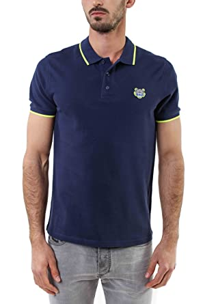 2d85f42ac344 Kenzo Authentic Men s Navy Polo with Lime Tipped at Amazon Men s ...