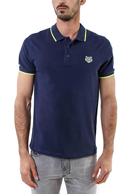 31a27b836b Kenzo Authentic Men's Navy Polo with Lime Tipped at Amazon Men's ...